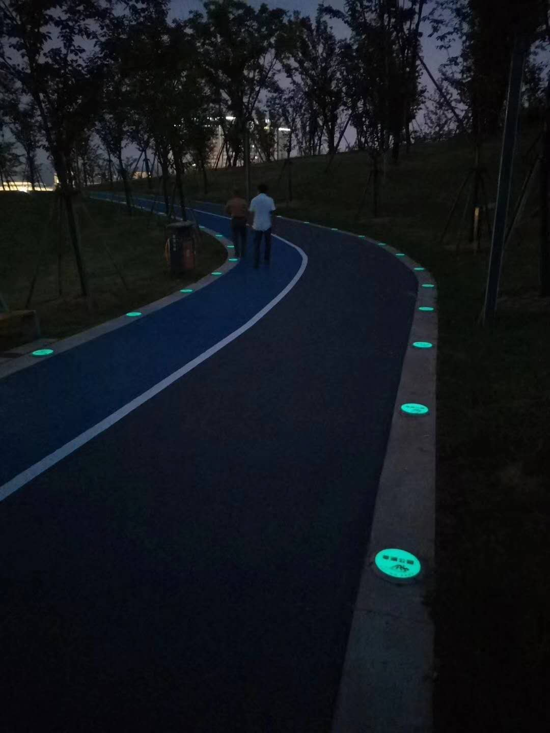 Inorganic Light Storage Self-luminous stone on walking path